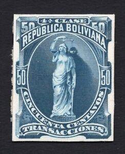 Bolivia 1920s stamp 50 centavos proof MH RRR!!!