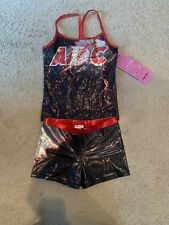 BRAND NEW Rebel Athletic cheer practice wear Adult Small Shiny Foil Shorts & Top