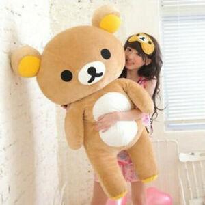 80cm San-x Rilakkuma Relax Bear Soft Giant Plush Doll Toy Stuffed Pillow Gift