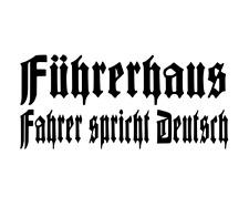 Führerhaus Fahrer Spricht Deutsch Aufkleber 250 x 100 mm Schwarz zb für Lkw