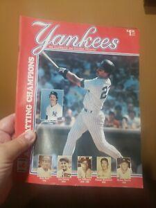 1985 New York Yankees Baseball Program 6/14-16 vs. Detroit Tigers Unscored