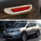 Chrome Rear Bumper Fog Lamp Light Cover Trim for 2014 2015 Nissan X-Trail Rouge