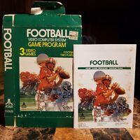 Football by Atari Box & Manual for Atari 2600