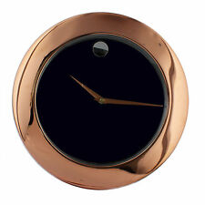 Rose Gold and Plain Dial Round Metal Wall Clock