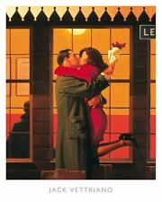 Back Where You Belong by Jack Vettriano Art Print Romantic Kiss Poster 16x20