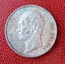 Belgique - Léopold Ier - Très Jolie  5 Francs 1865  Tête nue - beau Portrait (2)