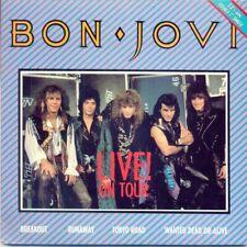 """7""-Bon Jovi--LIVE ON TOUR~ AUSSIE GATEFOLD EP '87 RARE!"