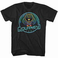 Journey Captured Neon Scarab 1981 Men's T Shirt Album Cover Rock Band Tour Merch