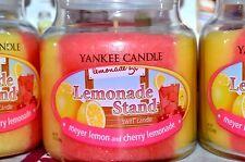 Yankee Candle LEMONADE STAND 13 oz Jar Swirl MEYER LEMON & CHERRY LEMONADE Rare