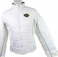 Jacksonville Jaguars Women's Full-Zip Quilted Winter Puffer Jacket NFL G-III