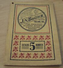 """Early 1900's CATALOG Badges/Rubber Stamps~""""J.N. BOSTICK"""" Fresno CALIFORNIA~"""