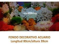 FONDO DECORATIVO de ACUARIO longitud 80cm altura 39cm marino coral pecera D470