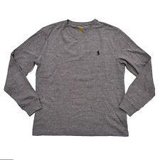 Polo Ralph Lauren Mens Long Sleeve V Neck T Shirt Small 100 Cotton