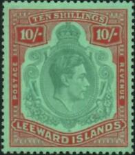 Leeward Islands 1945  10/- Green & Red/Green   SG.113b Mint (Hinged)