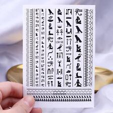 3D Nail Stickers Black Symbol Nail Art Transfer Egypt Totem Ultra-thin Design
