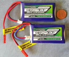 2 x Turnigy Kharkov 460mah 2s 25c-40c 7,4v nano Tech Lipo batería