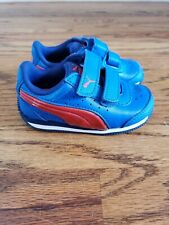 NEW Toddler Puma Velcro Shoes Blue and Red size 5