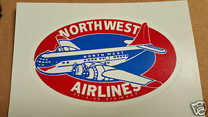 Northwest Airlines Boeing 377 Water Slide Decal 1940s - 1950s