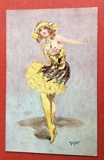 CPA. Illustrateur GAYAC. Danseuse. Music Hall. Ballerine. Dénudé. Coquin. 298