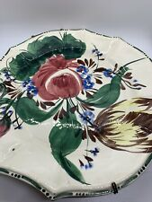 Arno Decorative Plate Made In Italy Art Wall Hanger Scalloped Floral