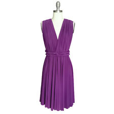 Women Bridesmaid Convertible Multi Way Wrap Evening Party Formal Short Dress