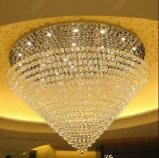 King Size LED Crystal Pendant Lighting Staircase Chandelier Lamp for Living Room