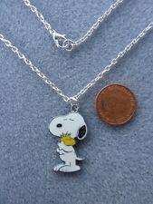 "Snoopy Cuddly Woodstock Enamel Pendant Necklace 18"" Birthday Gift Present # 163"