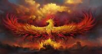 5D Diamond Painting Part Drill Phoenix DIY Embroidery Cross Stitch Kit Art Decor
