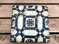 very old large highly decorated tile !