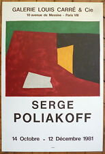 Poliakoff Serge Affiche Lithographie Mourlot art abstrait abstraction Lyrique