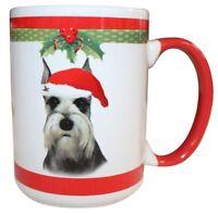 Schnauzer Cropped Christmas Coffee Mug 15 oz E&S Pets Dog Puppy Tea Cup Holiday