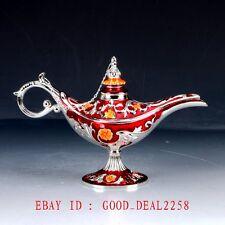 Chinese Decorative Cloisonne Handwork Carved Aladdin Lamp Statue ZJ25