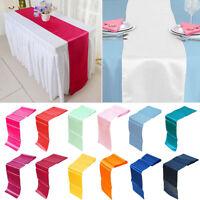 "12""x108"" Satin Table Runner Wedding Reception Banquet Party Decor 30 x 275cm"