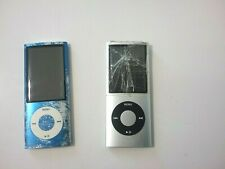 APPLE IPOD NANO LOT OF 2  BLUE AND SILVER-8G FOR PARTS OR REPAIRS