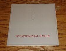 Original 1976 Lincoln Continental Mark IV Sales Brochure 76