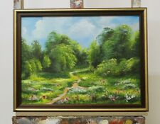 Gemälde Natur Wald Handarbeit Ölbild Bild Ölbilder Rahmen Bilder G96341