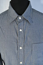 Vintage Wrangler grey striped shirt size large grunge trucker western