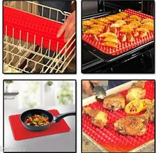 Pyramid Pan Non Stick Fat Reducing Silicone Cooking Mat Oven Baking Tray Sheet