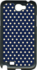 Small Navy Blue and Pink Polka Dots on Samsung Galaxy Note II 2 Hard Case Cover