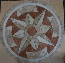 """Marble Travertine Tile Medallion Design Stone 32"""" #78"""