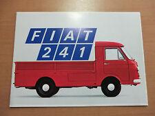 Brochure Fiat 241 LIGHT TRUCK TRANSPORTER Edition July 1968 Heilbronn very good!