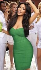 GREEN CELEBRITY BANDAGE BODYCON DRESS XS/S USA SELLER