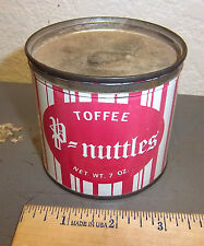 vintage Toffee P-Nuttles tin, great graphics & colors, P Nuttles brand