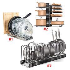 Kitchen Counter Cabinet Pot Pan Lid Rack Stand Holder Organizer Storage Shelf AU