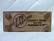 "EZE LAP Diamond Sharpening Stone Sharpener 1"" x 4"" Wood Mounted Tool"
