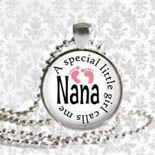 A Little Girl Calls Me Nana Pendant Charm Keychain Family Grandmother Love Gifts