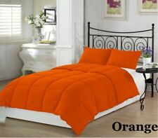 200 GSM Down Alternative Comforter Egyptian Cotton Solid Orange King Size