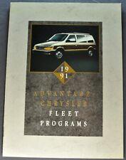 1991 Dodge Chrysler Plymouth Jeep Eagle Fleet Brochure Ram Pickup Wranger Laser