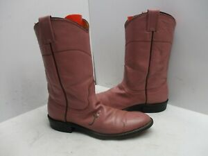 Nocona Wildflower Fuchsia Leather Roper Cowboy Boots Womens Size 8 A Style 132