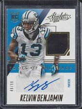 KELVIN BENJAMIN 2014 ABSOLUTE TOOLS OF THE TRADE ROOKIE JERSEY AUTO RC #D 49/99
